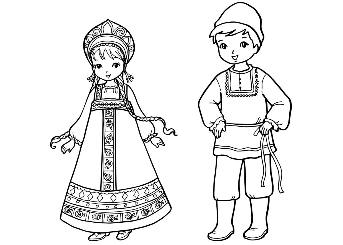 Disegni da colorare bambini russi - Coloriage kinder ...