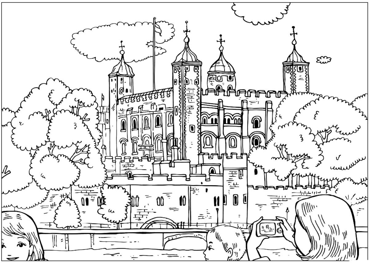 Disegni da colorare torre di londra - Animale domestico da colorare pagine gratis ...