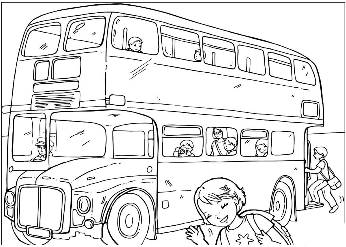 disegni da colorare  capitale bus