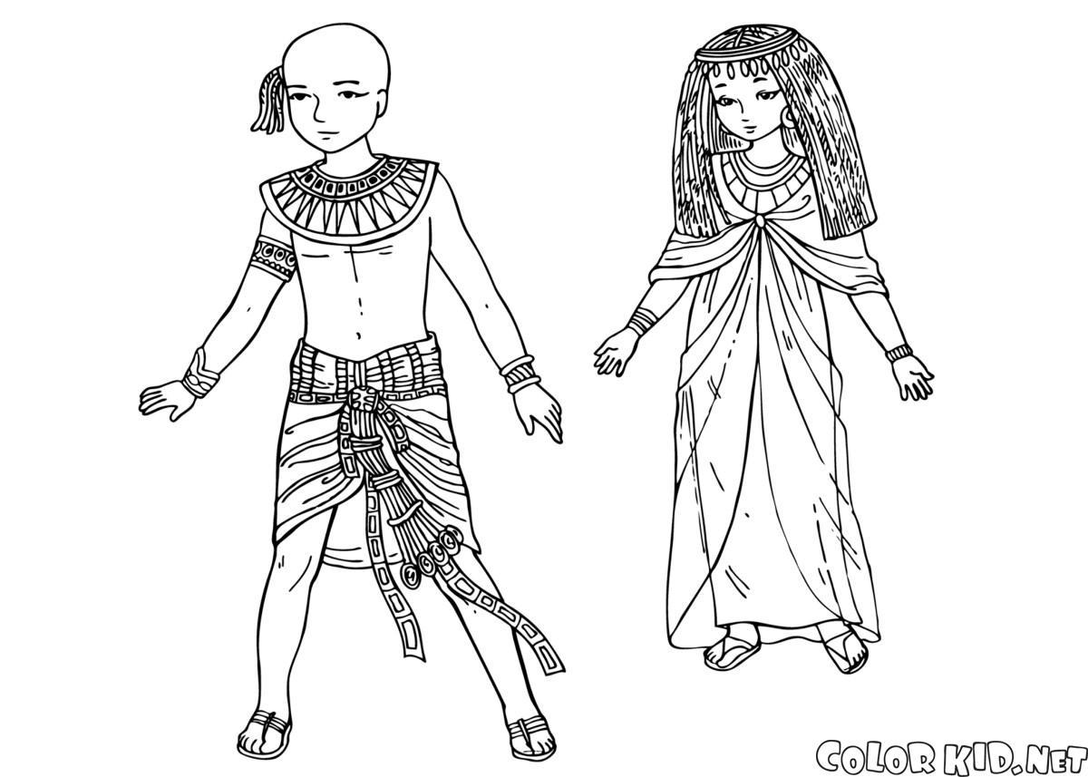 I bambini di Antico Egitto