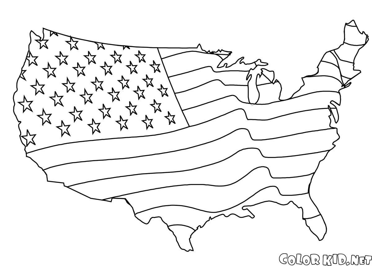 Bandiera americana Mappa