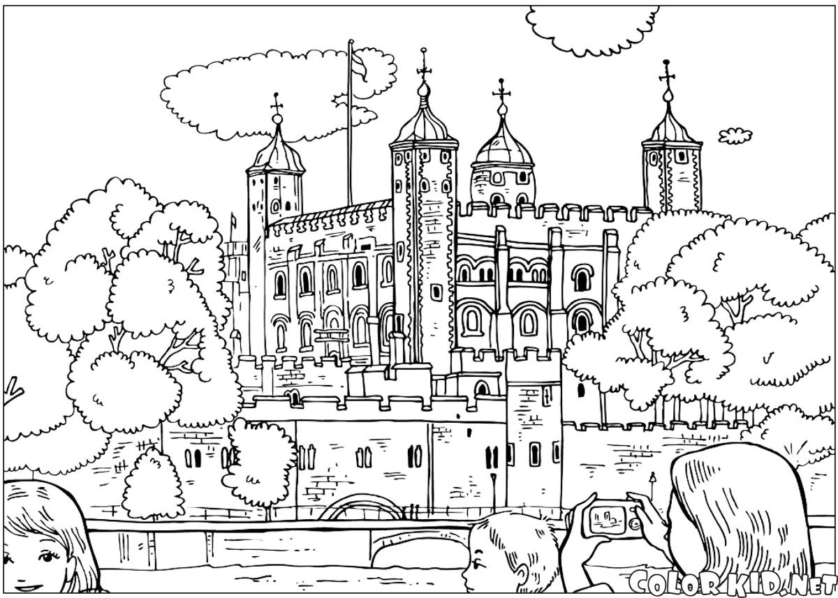 Immagini Di Londra Da Colorare.Disegni Da Colorare Torre Di Londra