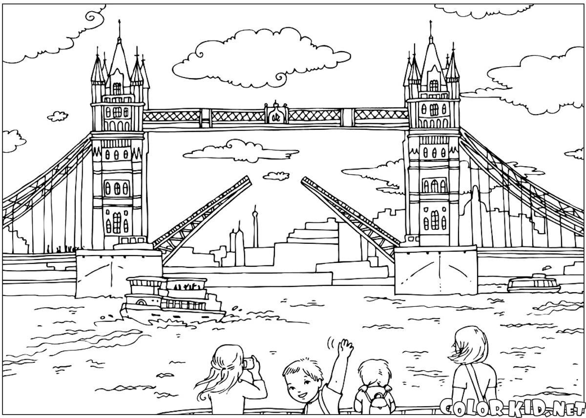 Immagini Di Londra Da Colorare.Disegni Da Colorare Ponte Di Londra