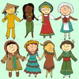 Bambini in abiti tradizionali