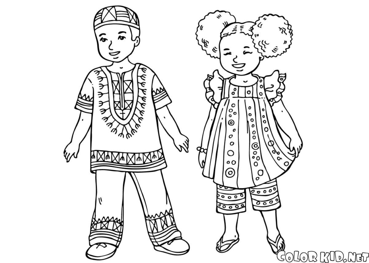 Disegni da colorare bambini in abiti tradizionali - Coloriage kinder ...