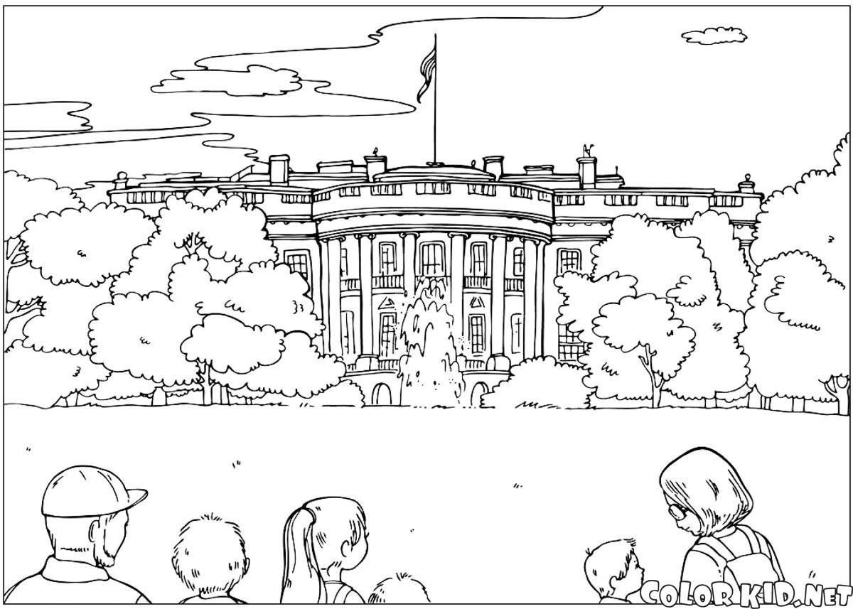 Disegni da colorare gli stati uniti d 39 america for Casa immagini da colorare