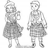 Bambini scozzesi